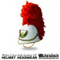07-Helmet-White-color Plume